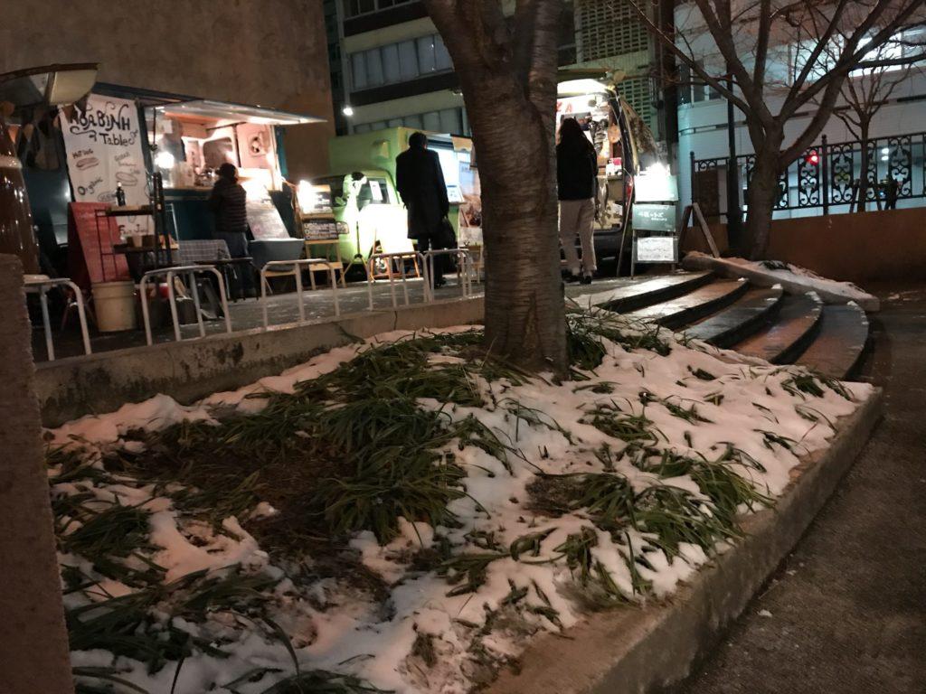 雪のなやばし夜イチ