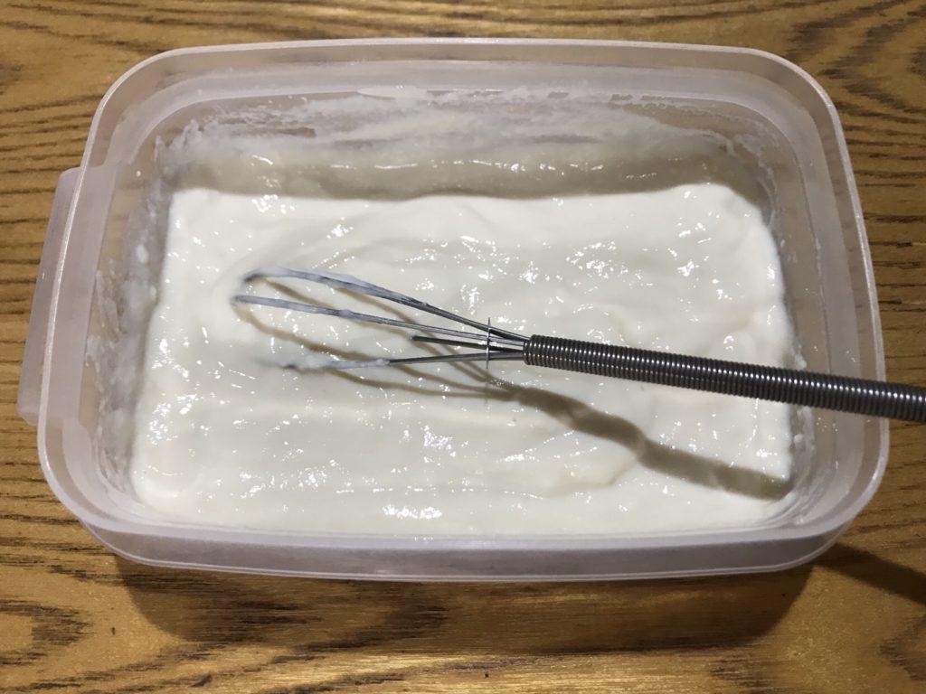 豆腐かき混ぜ