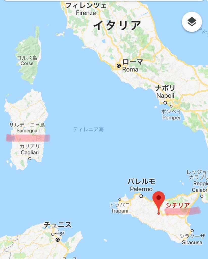 シチリア島とサルデニア島