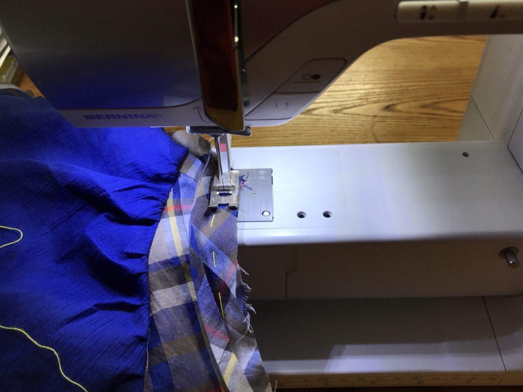 袖ぐり縫い